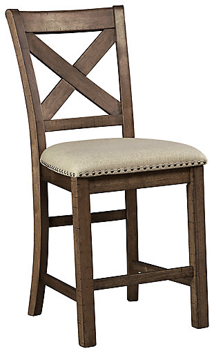 Moriville Counter Height Bar Stool, Beige, large