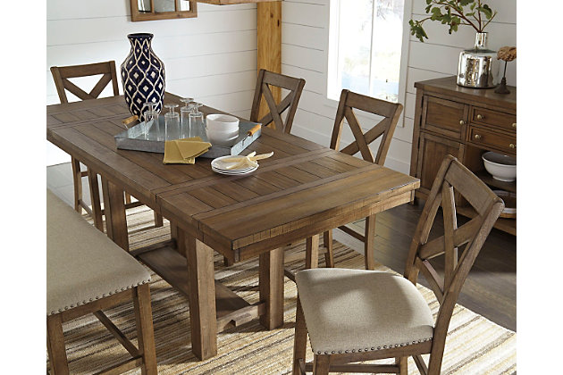 Countertop Dining Room Sets moriville counter height dining room table | ashley furniture
