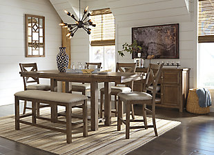 Moriville Counter Height Dining Set, , large