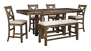 Moriville Counter Height Dining Extension Table, , large
