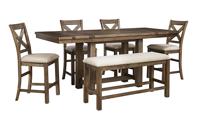 moriville counter height dining room table | ashley furniture