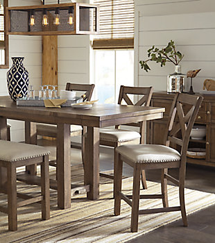 Moriville 6-Piece Counter Height Dining Room, , large