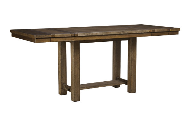 Moriville Counter Height Dining Table and 4 Barstools and Bench, , large