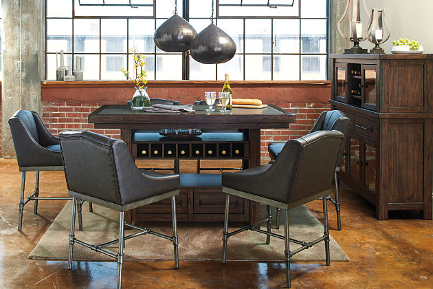 retro inspired counter height table and bar stools - Height Of Dining Room Table