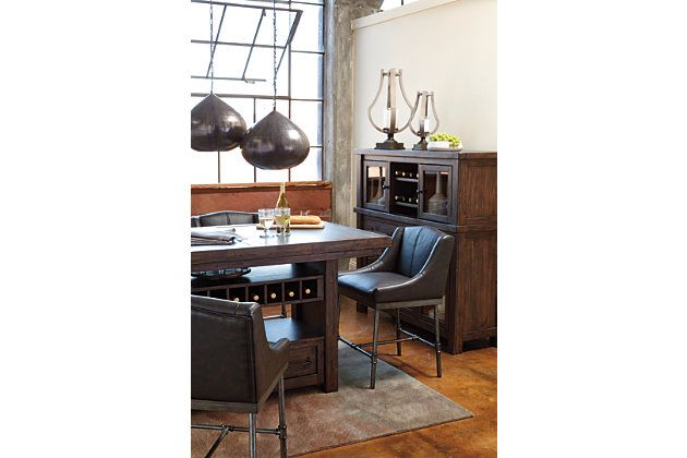 unique storage counter height dining table and bar stools with dining room server - Dining Room Server Furniture