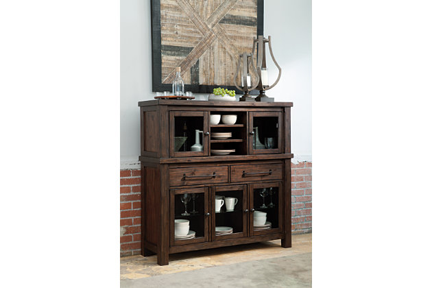 ashley furniture homestoresavings event home starmore dining room server urban industrial designed side server with curio storage - Dining Room Server Furniture