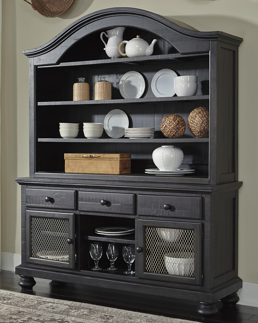 sharlowe dining room buffet corporate website of ashley dining room decor idea using this furniture