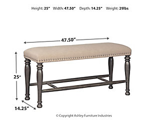 Audberry Counter Height Dining Room Bench Large