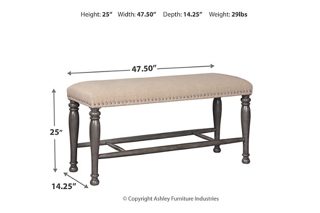 Audberry Counter Height Dining Room Bench, , large