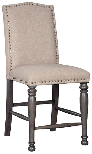 Audberry Upholstered Barstool (2/CN), , large