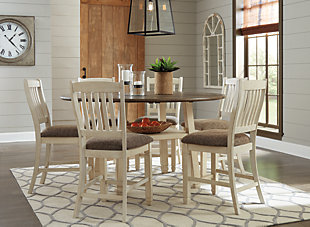 Bolanburg Counter Height Dining Table and 6 Barstools, , large