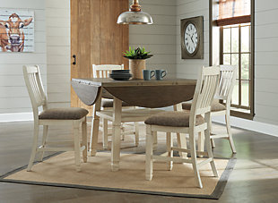 Bolanburg Counter Height Dining Room Drop Leaf Table, , rollover