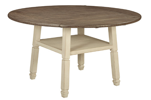 Bolanburg Counter Height Dining Room Drop Leaf Table, , large