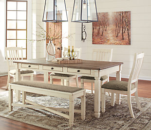 Bolanburg Dining Table and 4 Chairs and Bench, , large