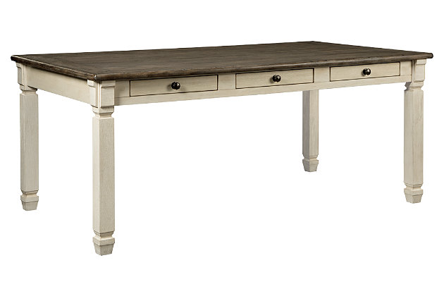 Bolanburg Dining Room Table, Two-tone, large