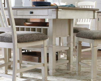 Ashley Bolanburg Counter Height Dining Room Table, Two-tone
