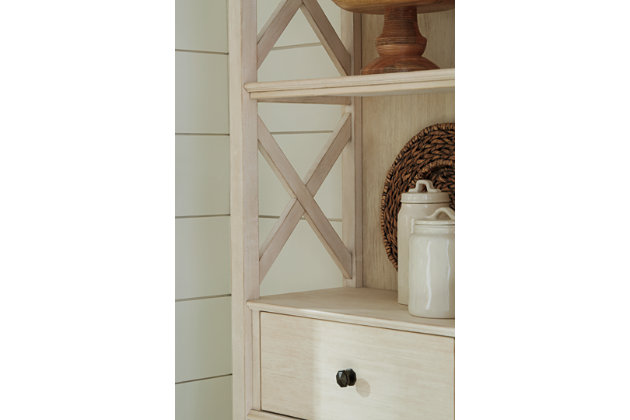 Bolanburg Display Cabinet, Antique White, large