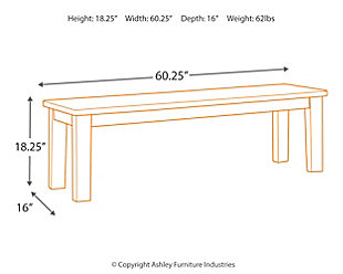 Manishore Dining Room Bench, , large