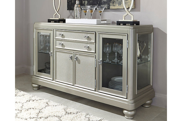 coralayne dining room server | ashley furniture homestore