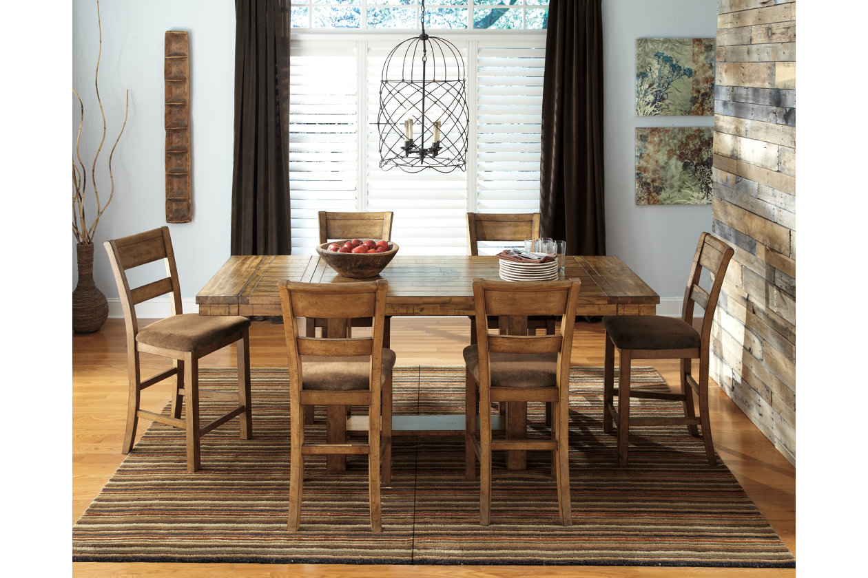 Find Many Great New Used Options And Get The Best Deals For Ashley Furniture Krinden Rectangular 9 Piece Counter Dining Room Table Set D653 At