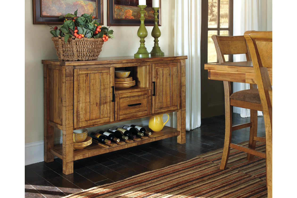 Enjoy A Rustic Hand Crafted Look With The Signature Design By Ashley Krinden Counter Height Dining Table Designed For Farmhouse Feel This