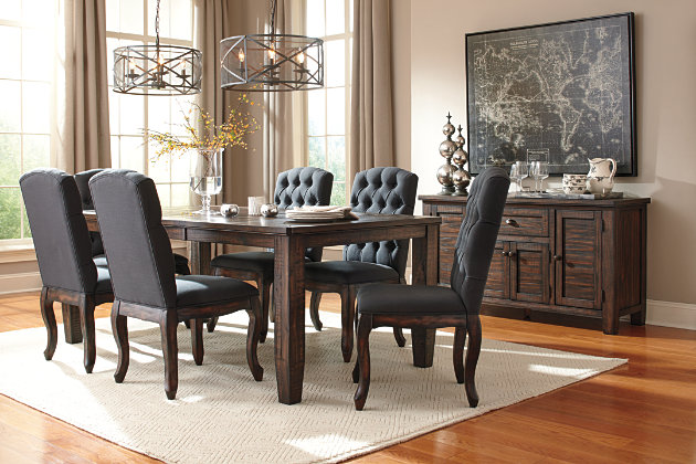 Dark Brown Trudell Dining Room Table View 8