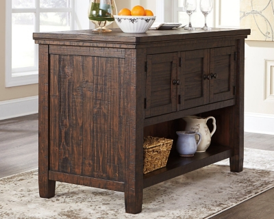 Ashley Trudell Counter Height Dining Room Table, Dark Brown