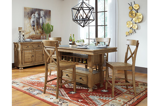 Trishley Counter Height Dining Room Table | Ashley Furniture HomeStore