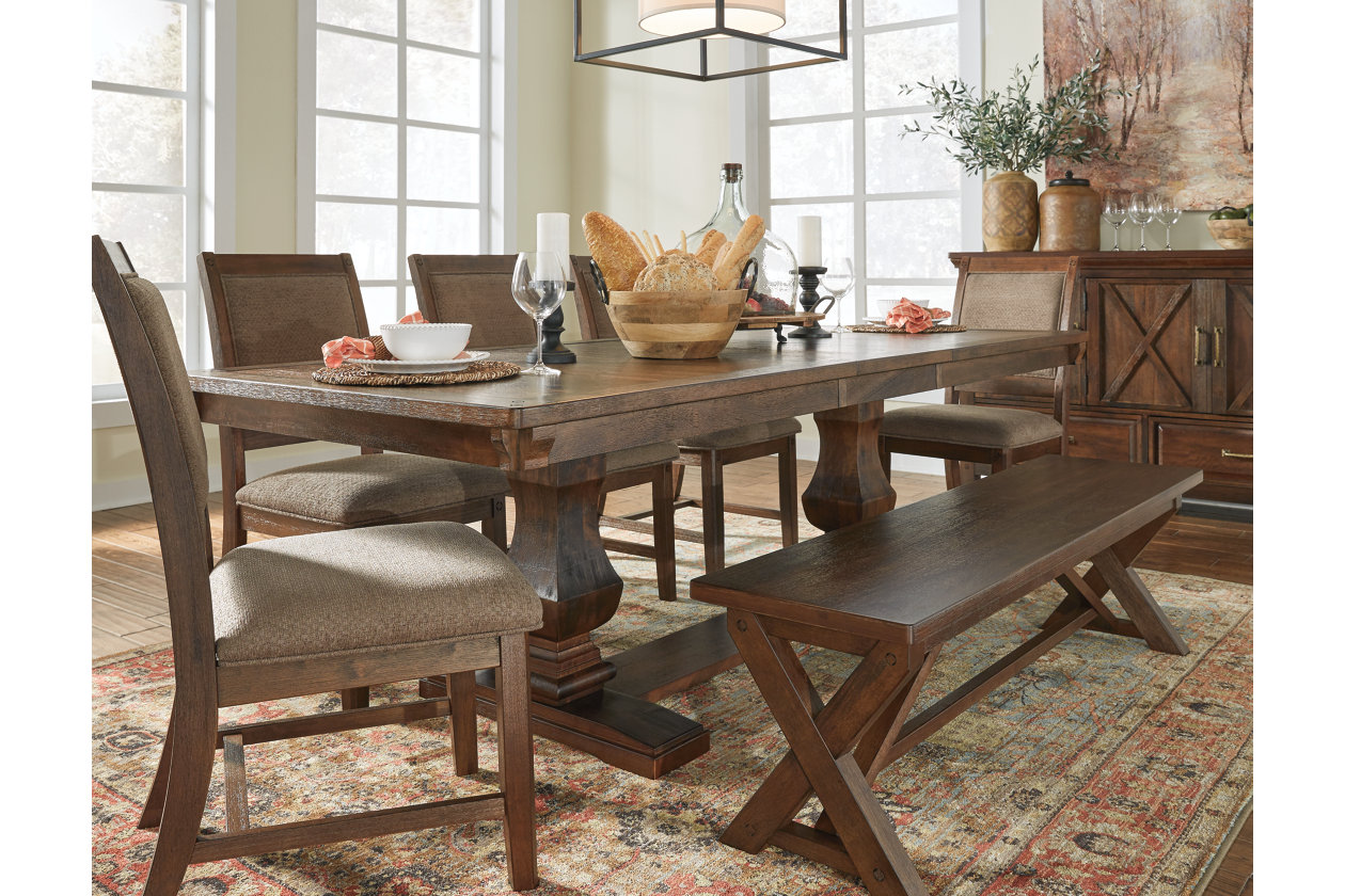 Fine Windville 63 Dining Room Bench Ashley Furniture Homestore Theyellowbook Wood Chair Design Ideas Theyellowbookinfo