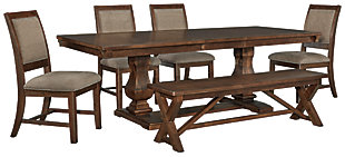 Windville Dining Table and 4 Chairs and Bench, , large