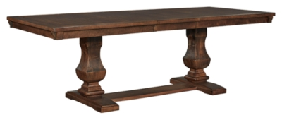 Ashley Windville Dining Room Table, Dark Brown