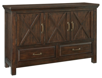 Dark Cherry Wood Credenza : Dark cherry wood buffet table mission style sideboard u modern house