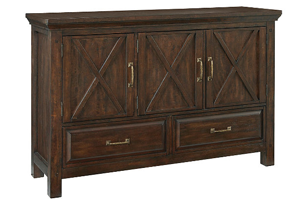 Windville dining room server ashley furniture homestore for Dining room server