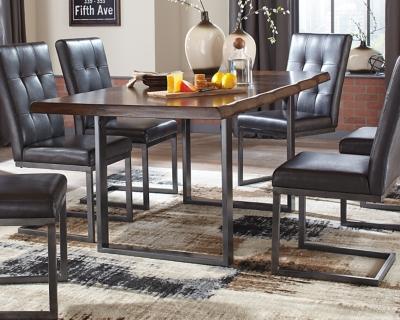 Esmarina Dining Room Table by Ashley HomeStore, Walnut Brown