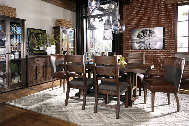 Medium Brown Zenfield Dining Room Server View 7