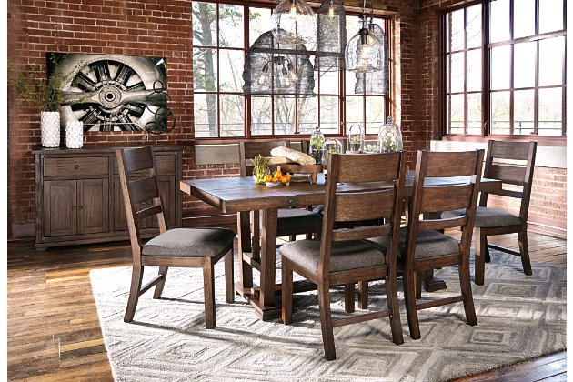 Medium Brown Zenfield Dining Room Server View 3