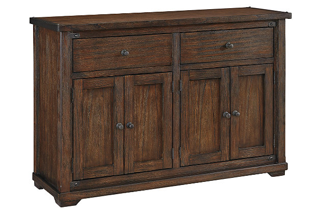 zenfield dining room server furniture homestore