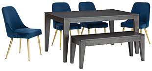 Trishcott Dining Table and 4 Chairs and Bench, , large