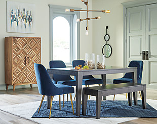 Trishcott Dining Table and 4 Chairs and Bench, , rollover