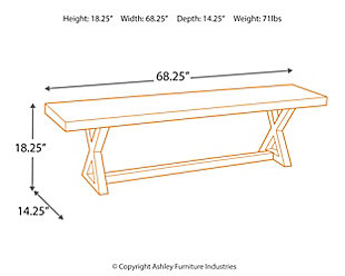Wesling Dining Room Bench, , large