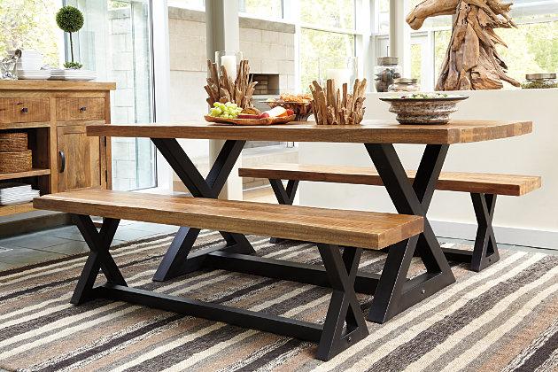 Wesling Dining Room Server Ashley Furniture HomeStore - Ashley furniture wesling coffee table
