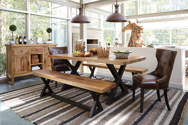 Two Tone Wesling Dining Room Table View 6