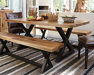 wood dining room tables.  large Wesling Dining Room Table rollover Tables Ashley Furniture HomeStore