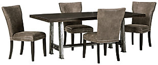 Wollburg Dining Table and 4 Chairs, , large