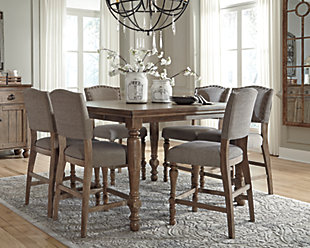 tanshire counter height dining room table - Tall Dining Room Tables
