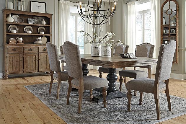 Tanshire Server and Hutch | Ashley Furniture HomeStore