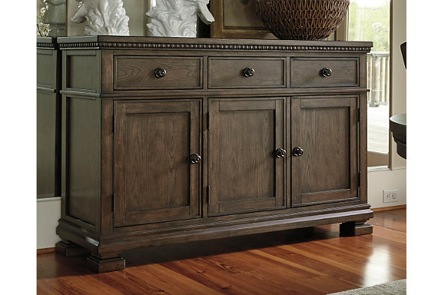 Larrenton dining room buffet ashley furniture homestore for Dining room sideboard
