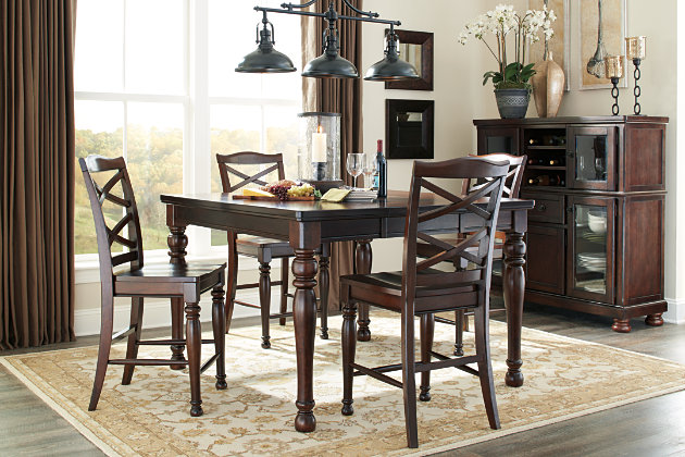 Rustic Brown Porter Counter Height Bar Stool View 5