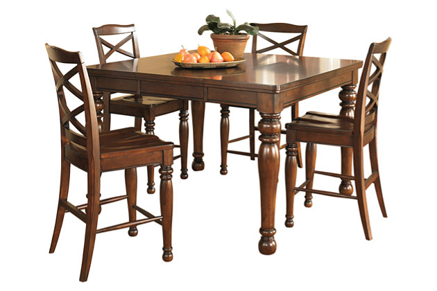 porter counter height dining room table ashley furniture homestore. Black Bedroom Furniture Sets. Home Design Ideas