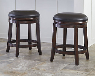 Porter Counter Height Bar Stool, Rustic Brown, rollover